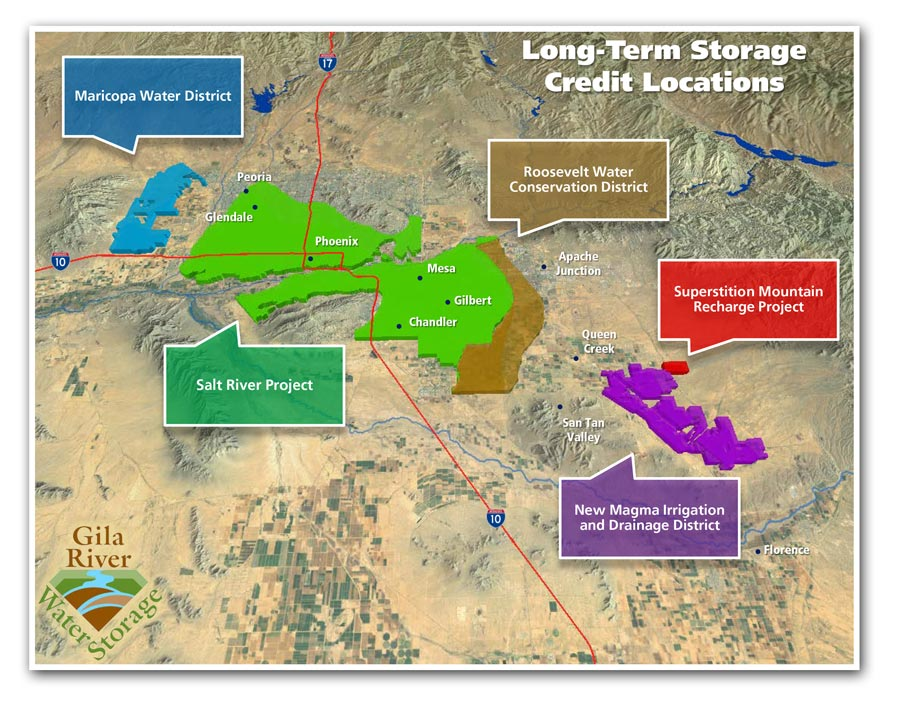 GRWS is the largest holder of long-term storage credits available for purchase by municipal water providers residential developers and industrial water ...  sc 1 st  Gila River Water Storage : long term storage of water  - Aquiesqueretaro.Com